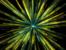 Free Fantasy Yellow Particles Emission Stock Photos - 6567943