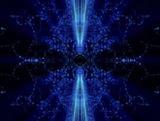 Free Fantasy Mirrored Blue Abstract With Shines Royalty Free Stock Photography - 6567977