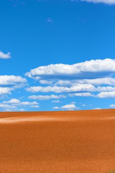 Free Golden Sand Dunes With A Blue Sky Royalty Free Stock Photos - 6568038