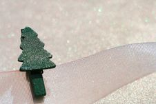 Free Christmas Tree Peg On Ribbon Stock Photo - 6568200