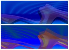 Two Blue Abstract Banners Royalty Free Stock Images