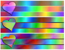 Heart Pastel Banners Royalty Free Stock Photo