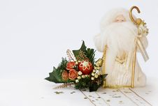 Free Christmas Santa With Cone Decoration  - Copy Space Royalty Free Stock Photos - 6569498