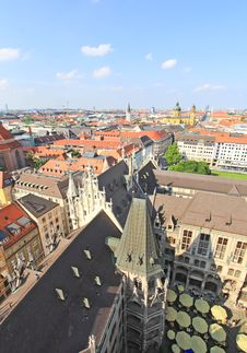 Free The Aerial View Of Munich City Center Stock Photos - 6569903