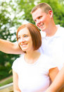 Free Couple Caucasian Enjoying View Royalty Free Stock Photography - 6572057