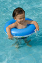 Free Baby With Swimming Tires Royalty Free Stock Photo - 6572775