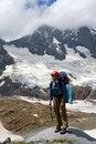 Free Backpacker Girl In Helmet Stock Photos - 6575743