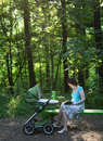 Free Mother With Baby Carriage Stock Photos - 6578513