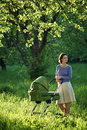 Free Mother With Baby Carriage Stock Photos - 6578623