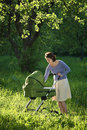 Free Mother With Baby Carriage Royalty Free Stock Photos - 6578628