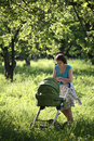 Free Mother With Baby Carriage Stock Photography - 6578632
