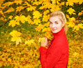 Free Woman In Autumn Forest Stock Photos - 6578803