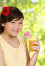 Free Girl With Juice Royalty Free Stock Images - 6579649