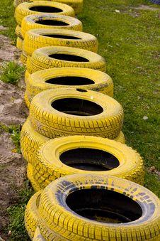 Free Yellow Old Tyres Stock Photo - 6570500
