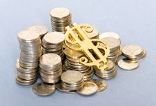 Free Coins With Dollar Sign Stock Photos - 6570523
