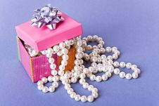 Free Box With Pearls Stock Photography - 6570532