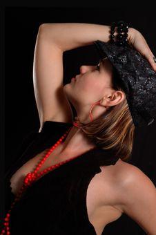 Free Stylish Woman Posing Stock Image - 6570591