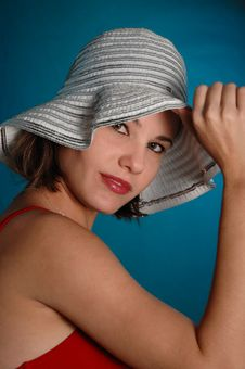 Free Beauty With Hat Stock Photography - 6570602