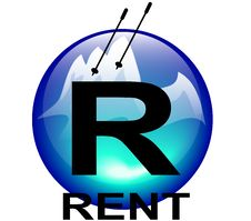 Mountain Ski Rent Icon Royalty Free Stock Photography