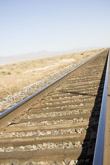 Railroad Track Perspective Stock Photography