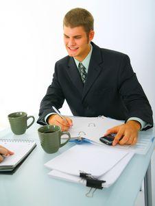 Free Businessman Working Stock Image - 6571551