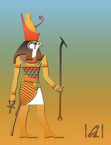 Horos The Egyptian God Of Sky Stock Photos