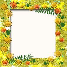 Autumn Garden Scrapbook Frame Royalty Free Stock Images