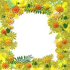 Autumn Garden Scrapbook Frame Royalty Free Stock Image