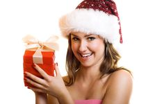 Free Christmas Portrait Of A Woman Royalty Free Stock Images - 6572329