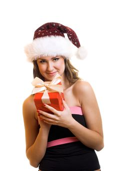Free Christmas Portrait Of A Woman Stock Photos - 6572473