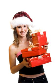Free Christmas Portrait Of A Woman Stock Photo - 6572500