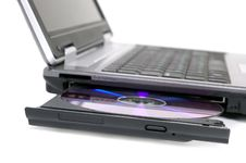 Free Laptop With Opened DVD Tray Royalty Free Stock Photo - 6572585
