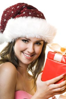Free Christmas Portrait Of A Woman Royalty Free Stock Photos - 6572608