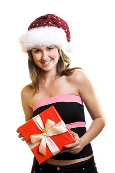 Free Christmas Portrait Of A Woman Stock Photo - 6572710