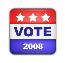 Free Button For American Presidential Elections Stock Photography - 6572862