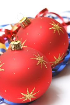 Free Christmas Red Ball Stock Photo - 6573490