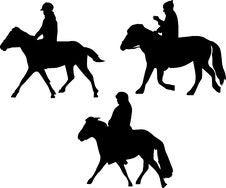 Free Three Horsemen Silhouettes Stock Image - 6573561