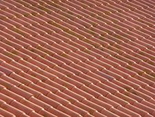 Red Clay Roof Stock Photo
