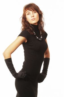 Free The Girl In Black Clothes Royalty Free Stock Photography - 6573907