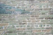 Free The  Weathered  Old Brick Wall Royalty Free Stock Photos - 6574868