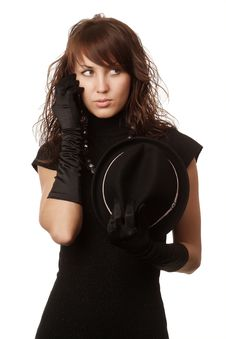 Free The Girl In Black Clothes Stock Photo - 6575050