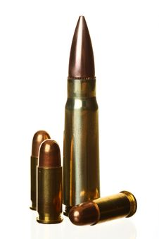 Free Four Isolated Bullets Royalty Free Stock Photography - 6575307