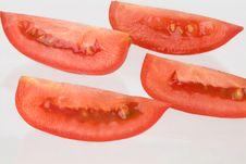 Free Isolated Tomato Slices Royalty Free Stock Photos - 6575538