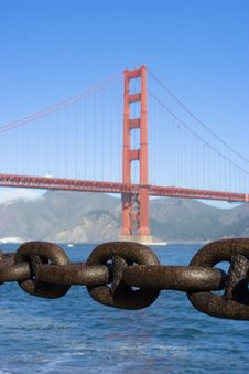 Chain Golden Gate Stock Images