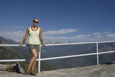 Free Woman In Front Of Mountains Royalty Free Stock Photography - 6576387