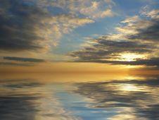 Free Cloudy Sunset Stock Photos - 6576393