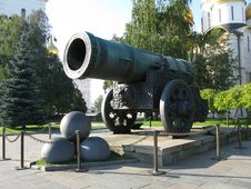 King-cannon (Tsar-pushka) Stock Photography