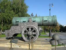 King-cannon (Tsar-pushka) Stock Photo