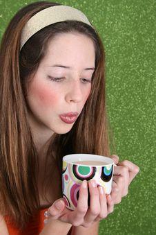 Free Tea Drinking Teen Stock Photo - 6577450