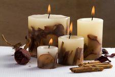 Aromatherapy Candlelight Royalty Free Stock Photos